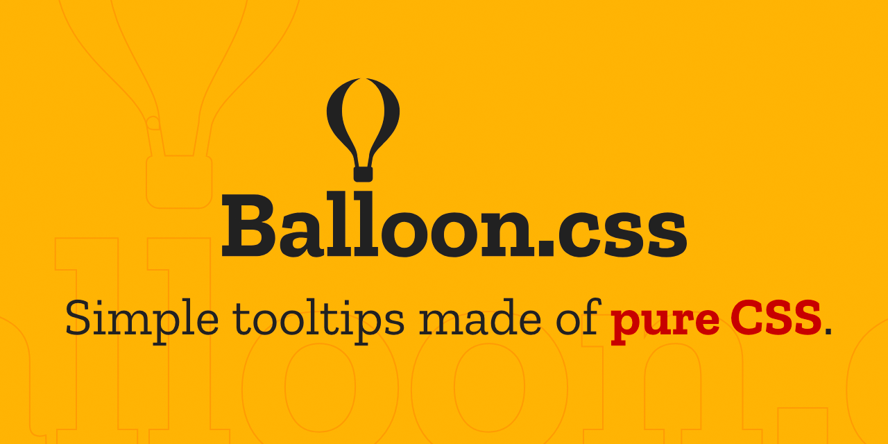 Balloon css — CSS tooltips for HTML elements